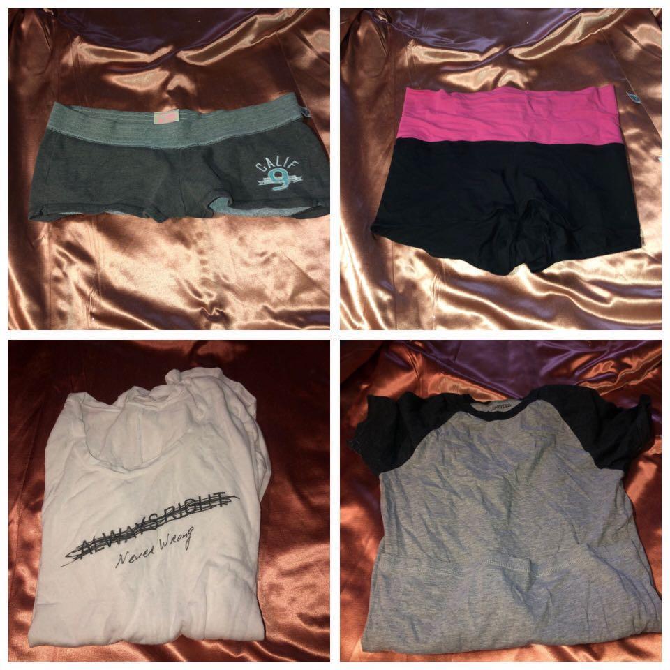 Medium shorts/ long sleeve and short sleeve