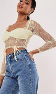 Missguided lace crop top