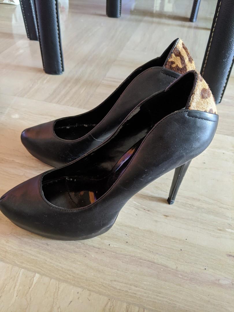 Pedro Women Black High Heels, Women's
