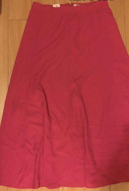 Pink skirt long size L