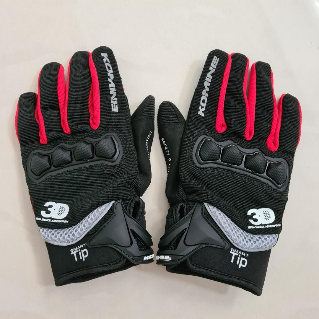 Sarung Tangan Motor Komine GK-162 Red Size L Gloves Glove