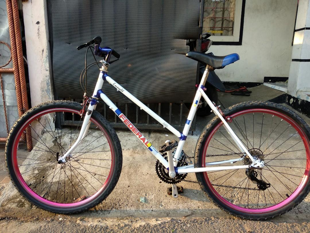 Sepeda 26 federal emerald lady full restorasi commuter bike  3x7speed