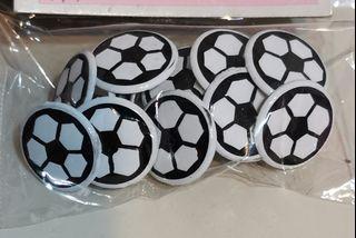 Soccer paper fasteners scrapbooking