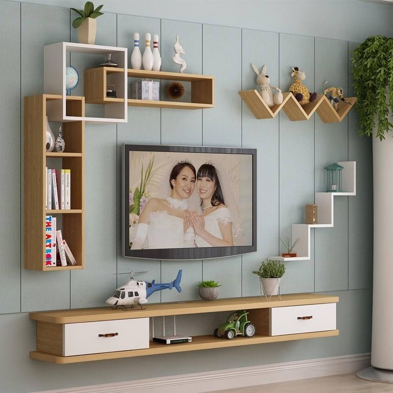 Solid Wood Tv Console Wall Furniture Shelves Drawers On Carousell
