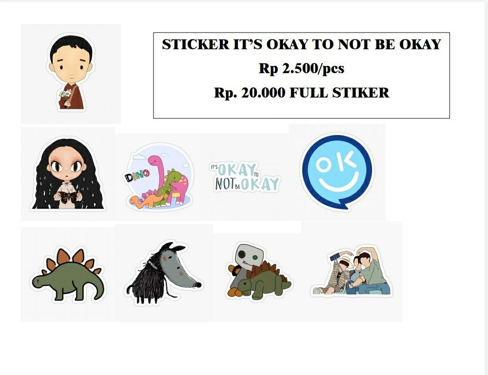 Stiker Laptop / Handphone Kdrama It's Okay To Not Be Okay IOTNBO Glossy + Cutting