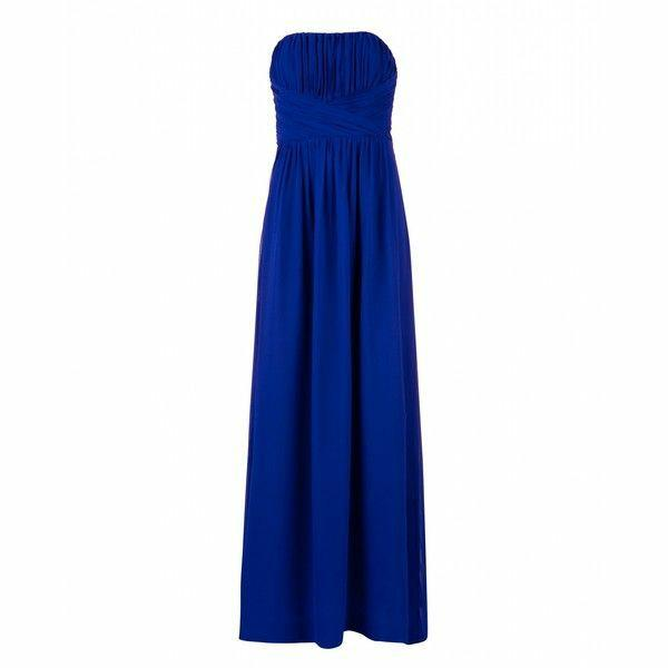 Ted Baker Pleated Bodice Maxi Dress - Bright Blue