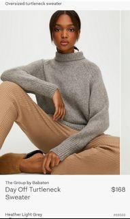Aritzia The Group by Babaton Day Off Turtleneck Sweater size Small