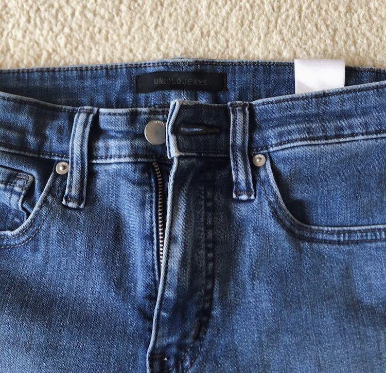 Uniqlo high rise skinny ankle jeans denim