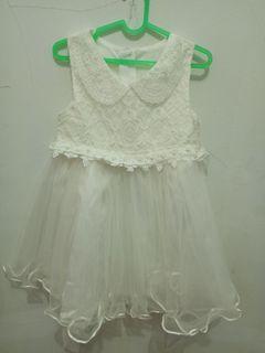 White Dress untuk usia 2-3 tahun