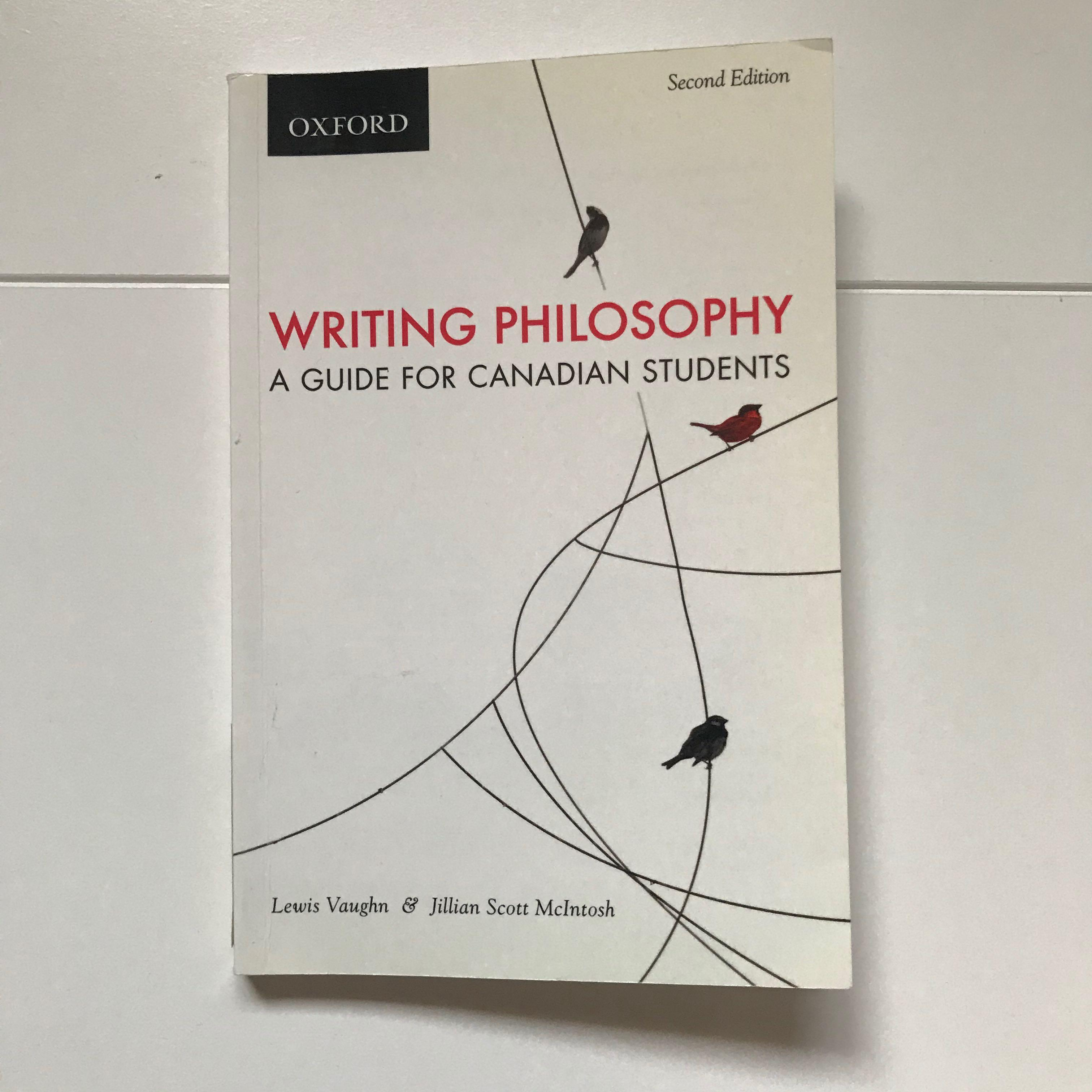 WRITING PHILOSOPHY A Guide for Canadian Studies