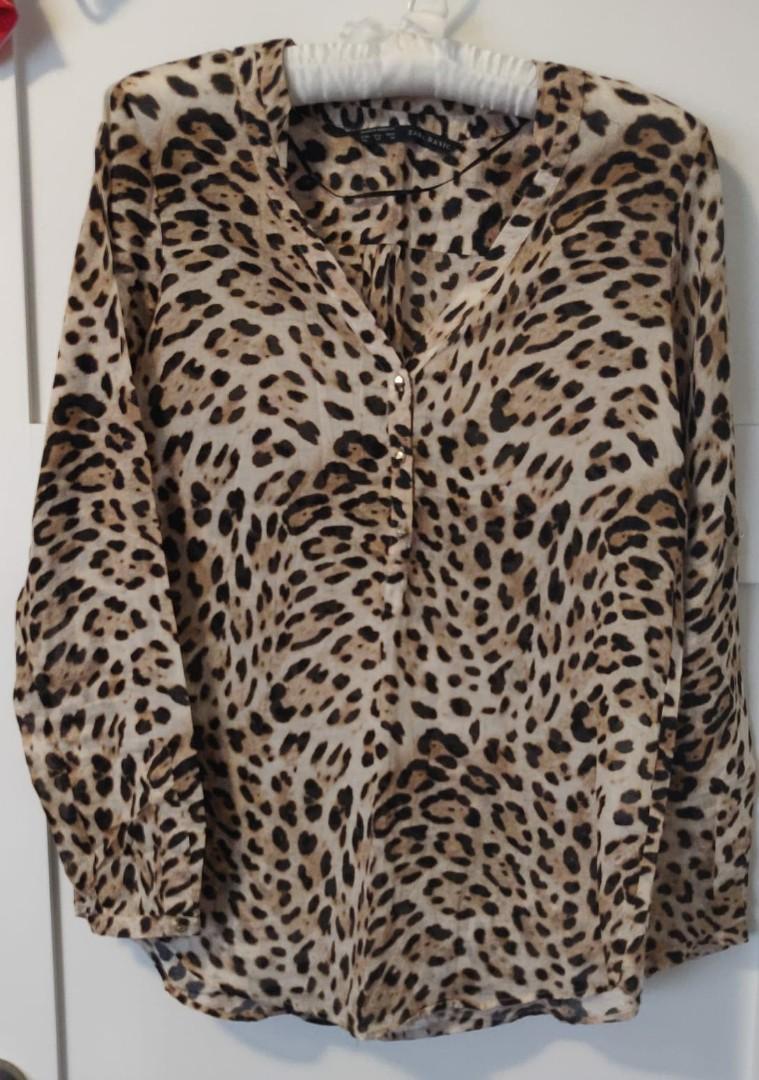 Zara Cheetah Print Blouse