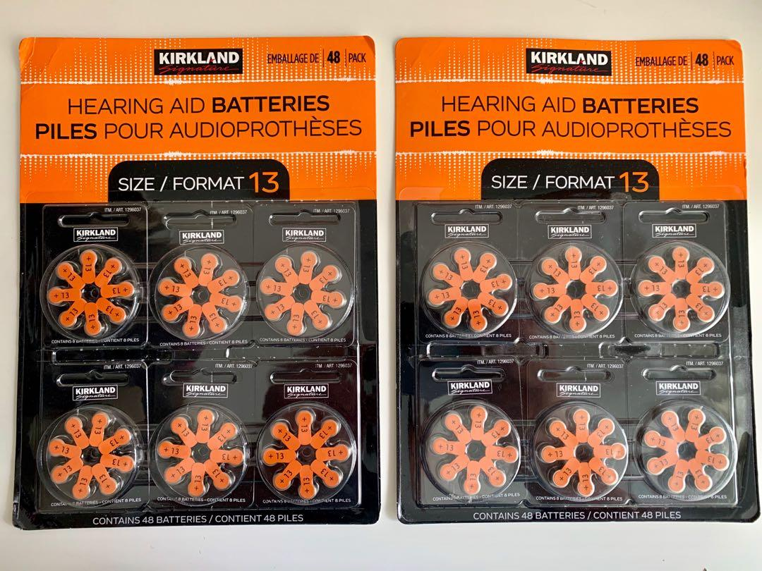 2 brand new packs of Kirkland hearing aid batteries