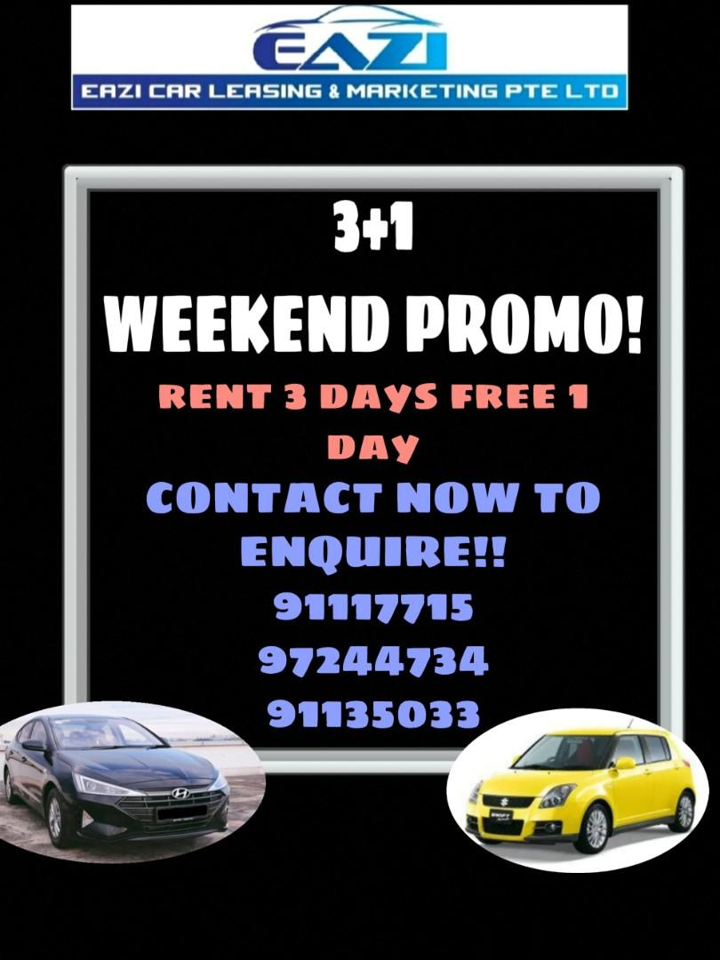 3+1 PROMO WEEKEND P PLATE WELCOME WIDE RANGE OF MODELS