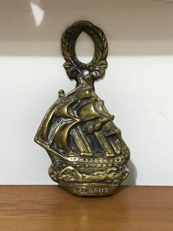 黃銅船飾開罐器--英國製