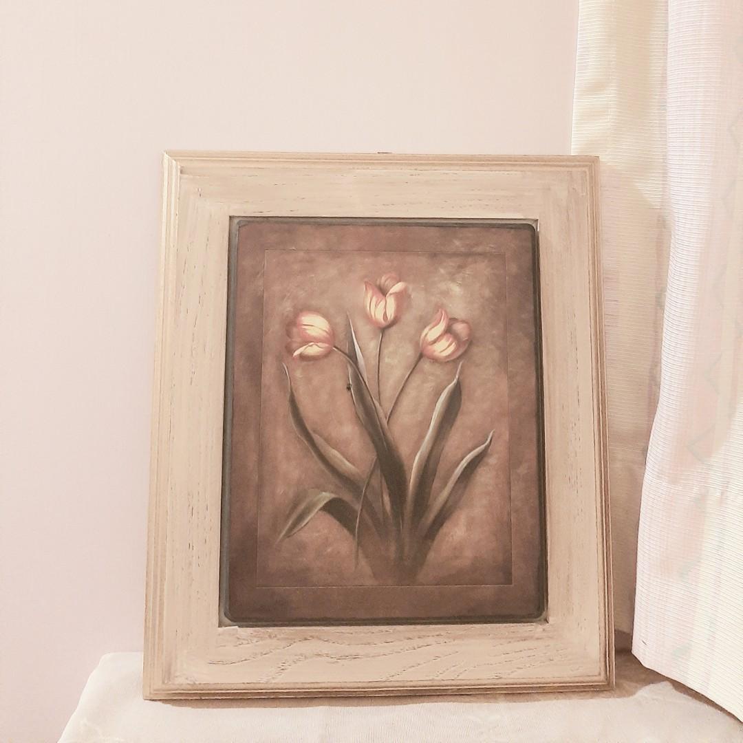 手工實木彩繪掛畫 壁畫 手繪 木頭 手作 油畫