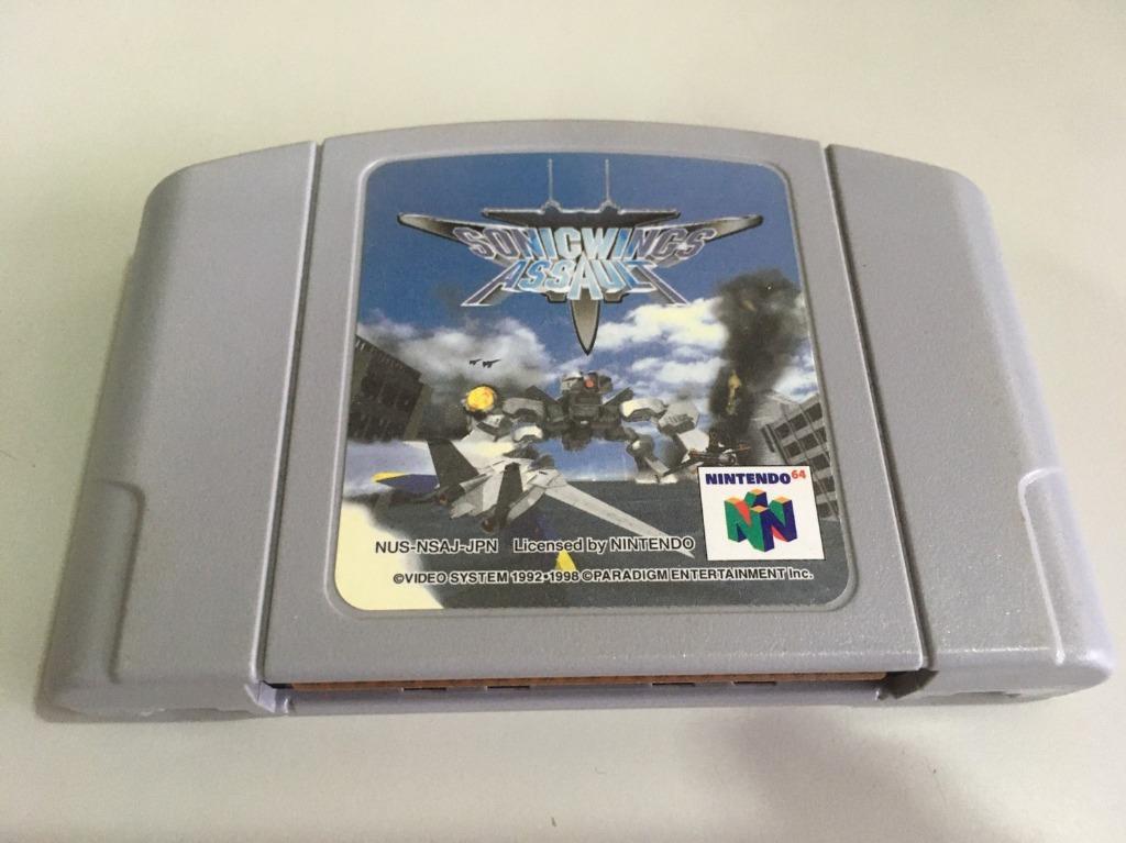「環大回收」?二手 N64 Nintendo-GAME 任天堂【音速戰機出擊】正日版 卡帶 中古 出清