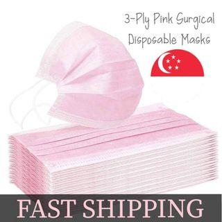 Adult Coloured 3 Ply Disposable Mask