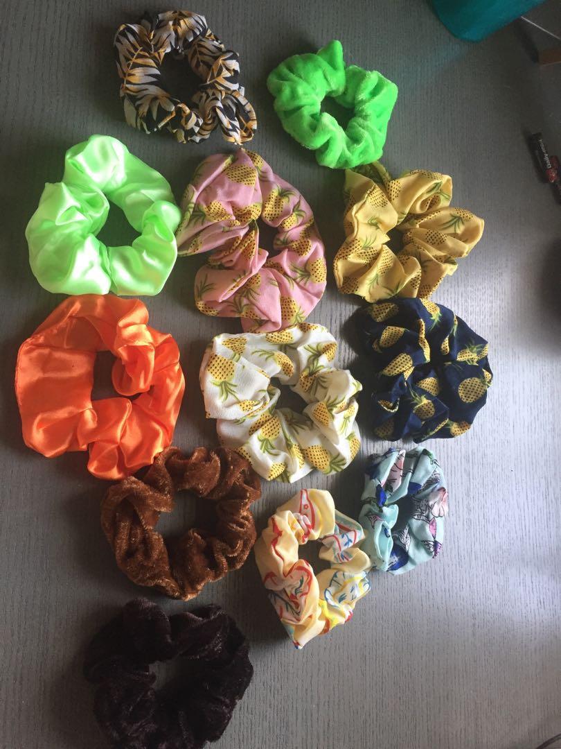 NEW Scrunchies (chiffon, velvet, & silk)