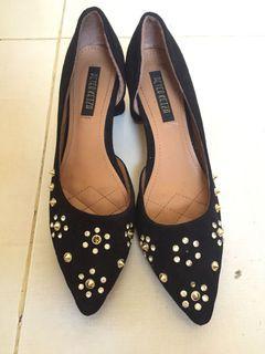 Black Heels Ukuran 39