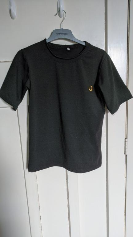 Black shirt with moon embroidery