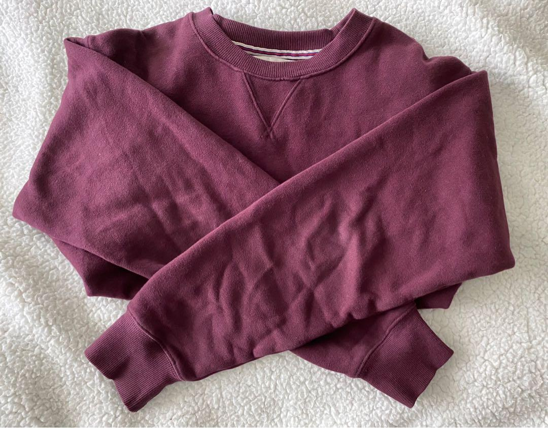 "Brand new aritzia tna ""the perfect crew"" in maroon"