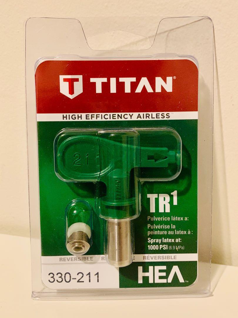 Brand new TITAN 330-211 TR1 HEA reversible spray tip