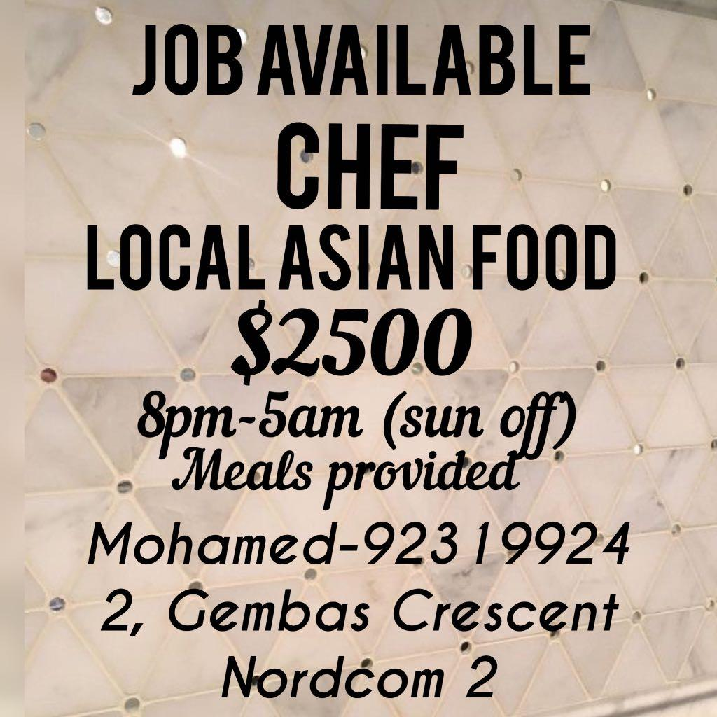 Chef- Asian local food