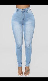 Fashion nova light wash skinny sculpting jeans