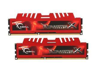 G.SKILL Ripjaws X Series 8GB (2 x 4GB) RAM Desktop Memory, 240-Pin DDR3 SDRAM, 1600 MHz, PC3 12800 (F3-12800CL9D-8GBXL)