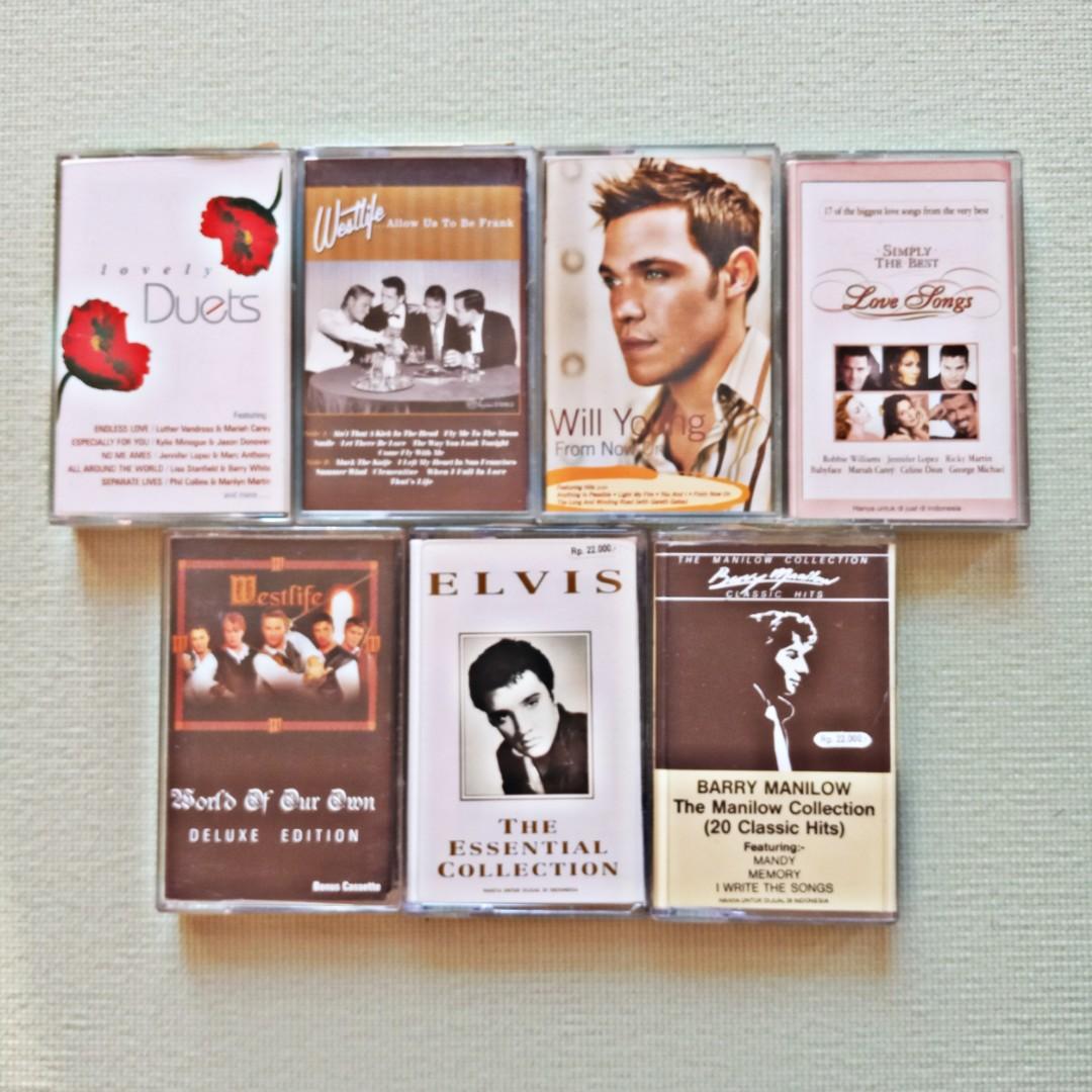 Kaset Pita Lagu Pop Barat Borongan - Audio Tape Casette - Lagu Hits