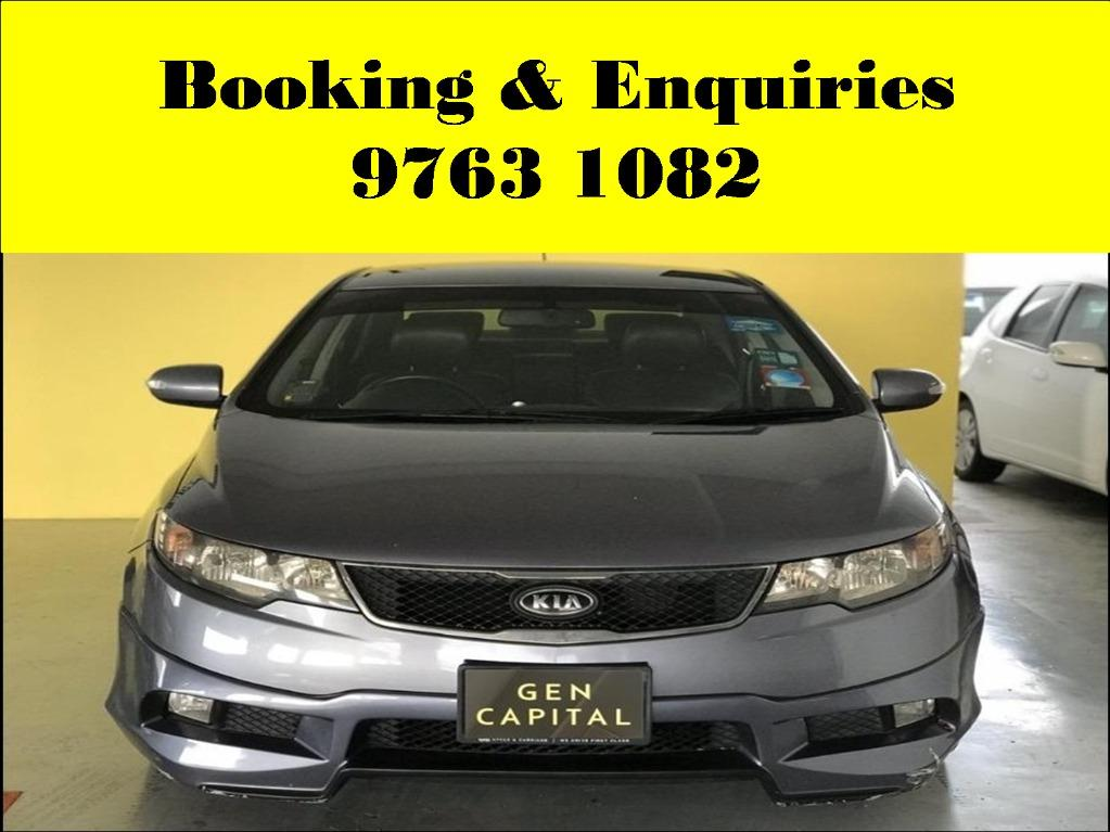 Kia Cerato ! Cheap ! Budget ! Pre-weekend car for rent ! Deposit only @ $500 . Whatsapp 9763 1082 to reserve now !