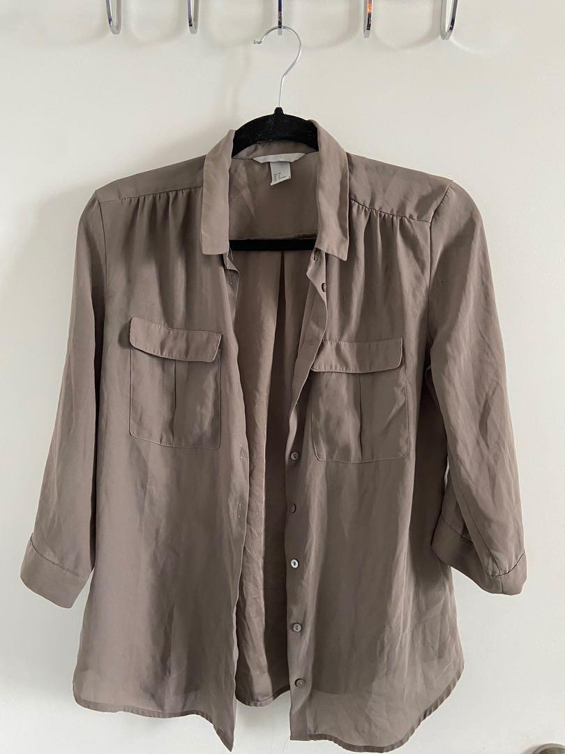 Mocha satin jacket size S