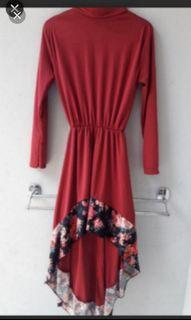 New Tunik/Mididress red flowers Turun Harga