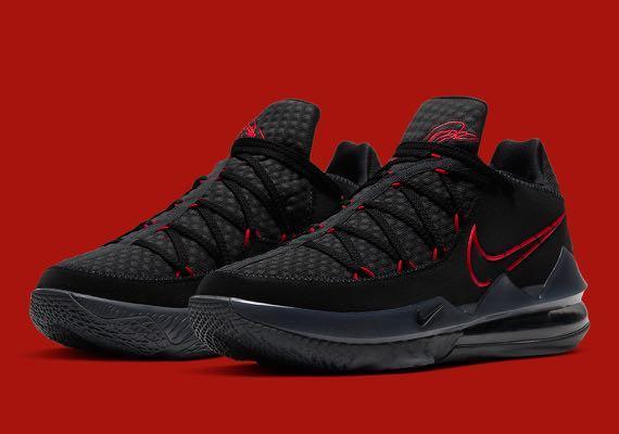 "Nike Lebron 17 ""Black/University Red"