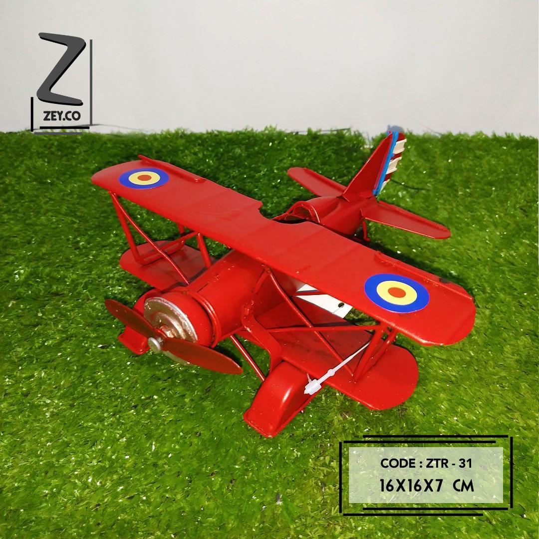 Pajangan dekorasi pesawat vintage