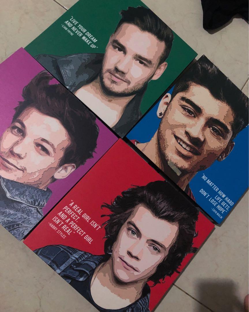 Pajangan Stripe - ONE DIRECTION (Liam, Harry, Louis, Zayn)