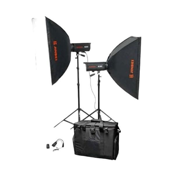 Preloved Lampu Jinbei ECV400 x A2 Kit Softbox