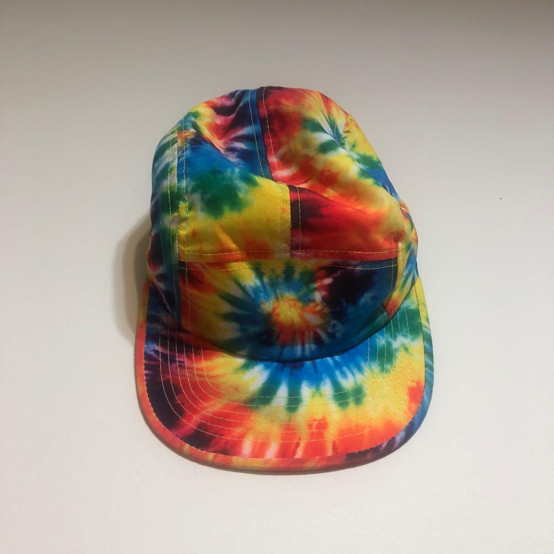 Rainbow tie-dye 5-panel