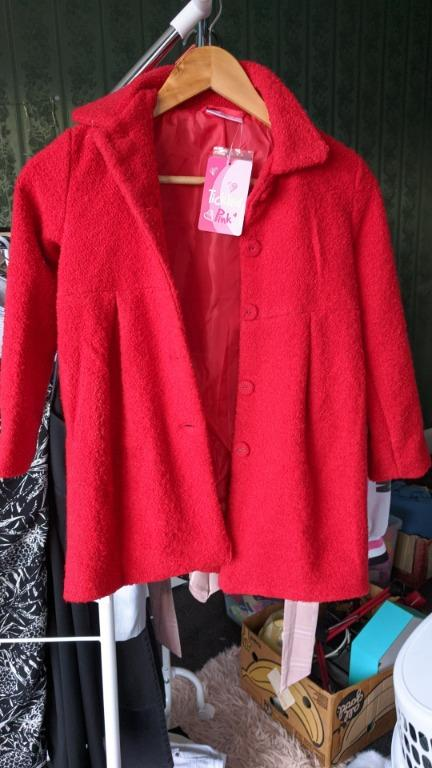 Red THICK jacket for 7 year old girl