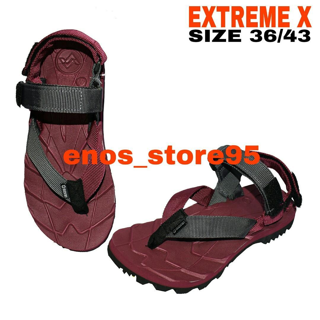 Sandal Gunung Outdoor Suzuran Extreme x Mr1 Maroon w Maroon Dark Grey
