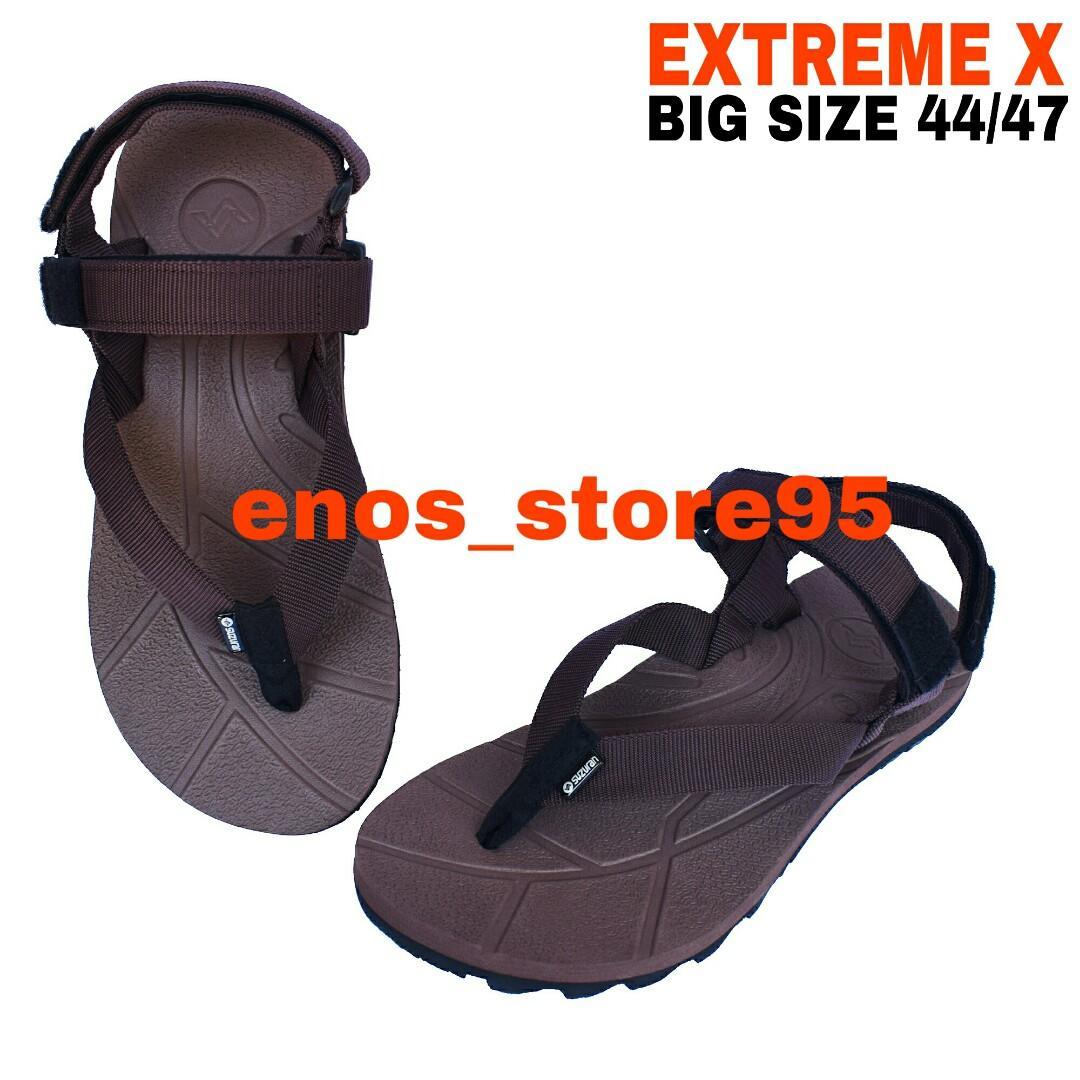 Sandal Gunung Outdoor Suzuran Extreme x Big Size Full Brown