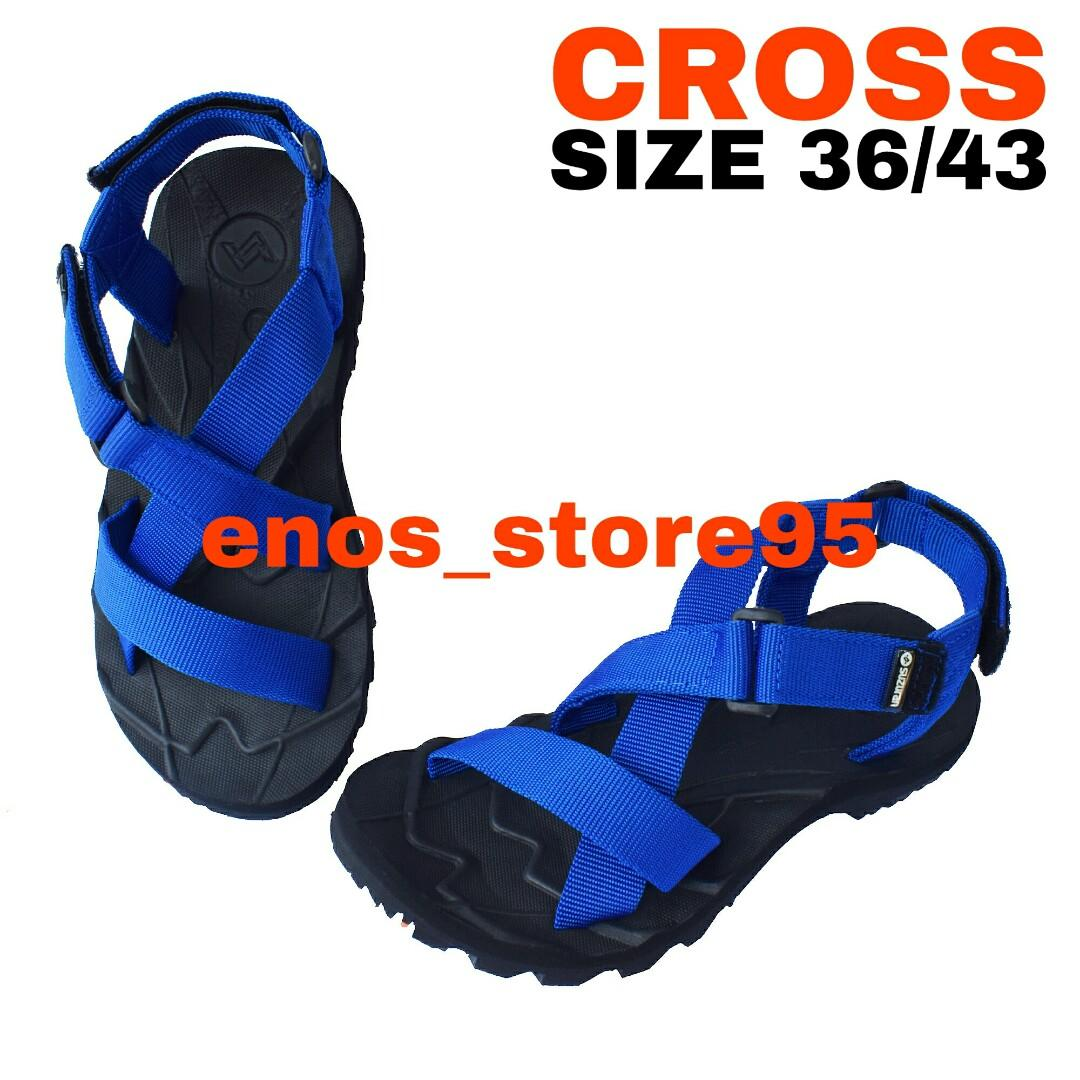 Sandal Gunung Outdoor Suzuran Cross Mr1 Black w Blue