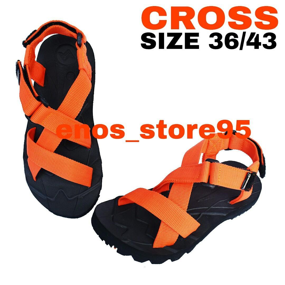 Sandal Gunung Outdoor Suzuran Cross Mr1 Black w Orange