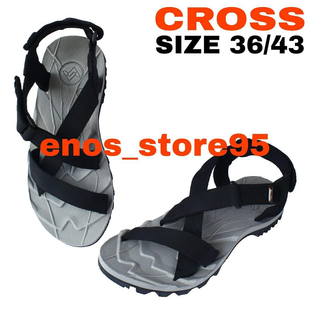 Sandal Gunung Outdoor Suzuran Cross Mr1 Grey w Black