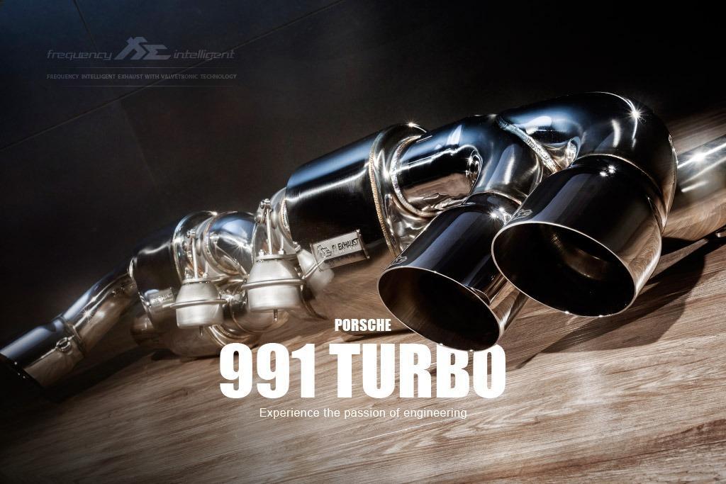 【YGAUTO】FI Porsche 991 TURBO 2013+ 中尾段閥門排氣管 全新升級 底盤