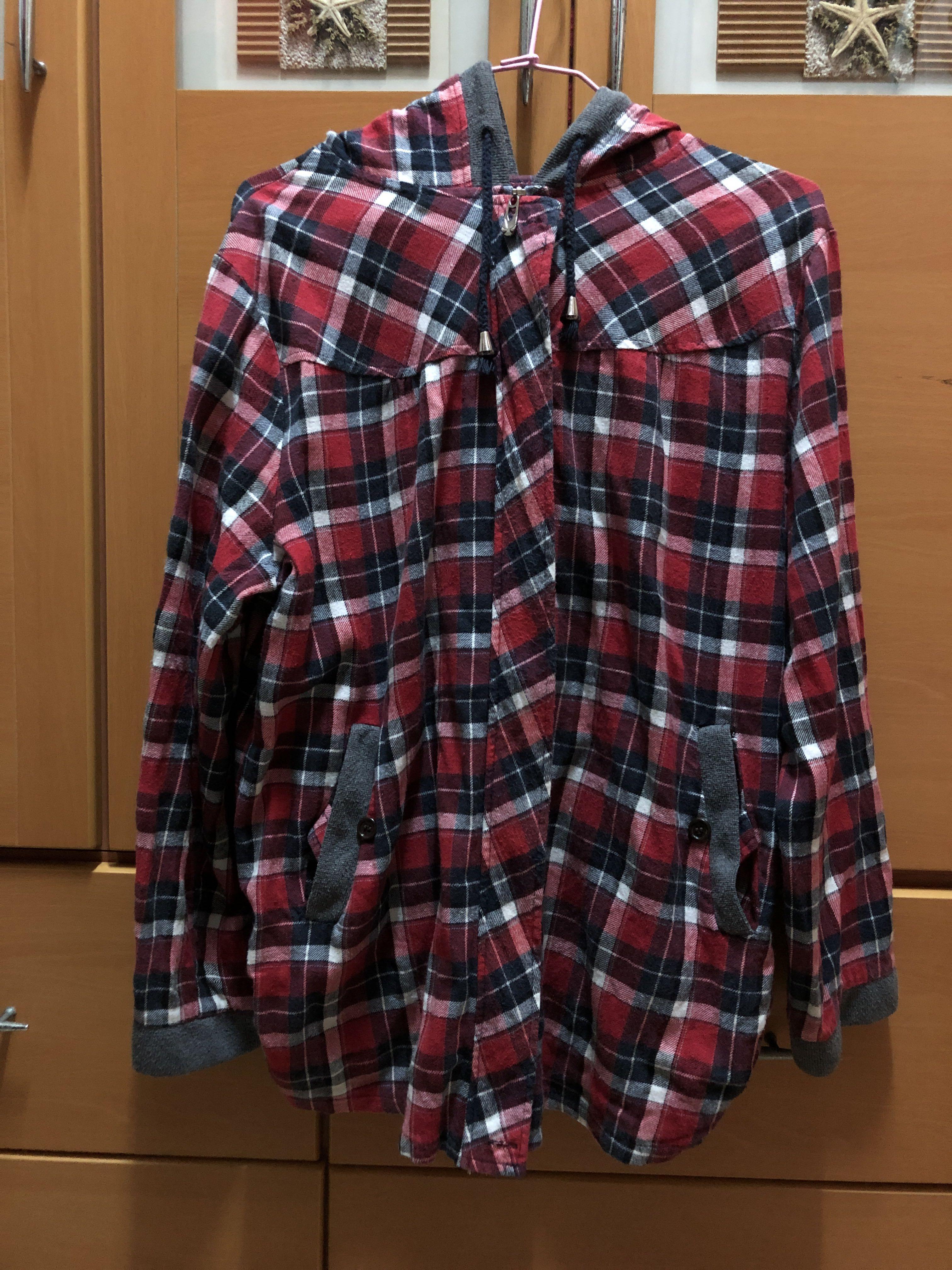 【贈送】紅色格紋外套
