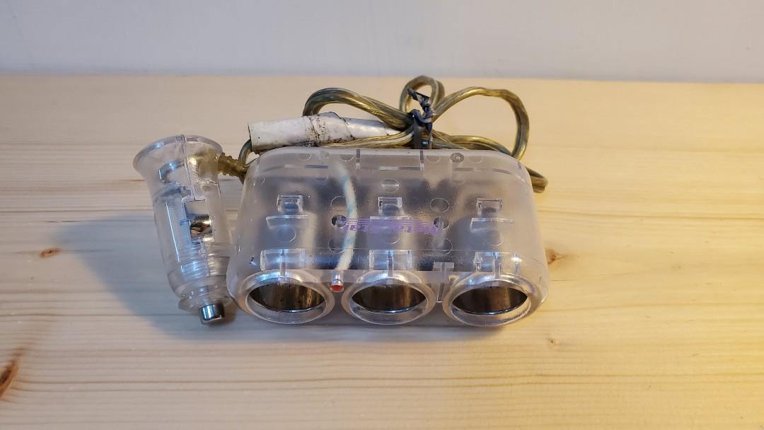 三孔車充  一對三 點菸插座 點菸器