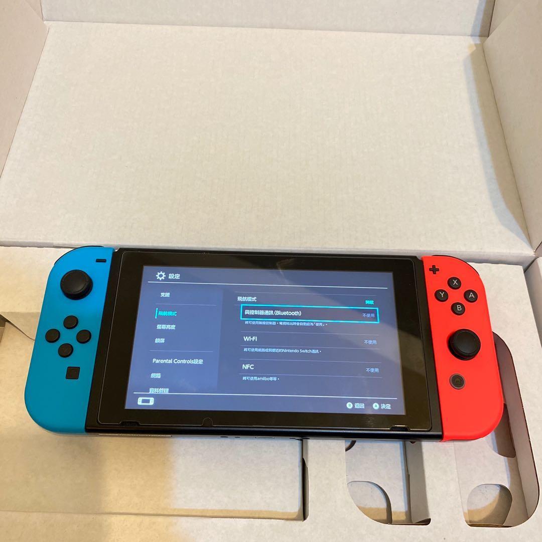 售任天堂 Switch電光紅藍 主機/完整盒裝/新竹面交/Nintendo Switch