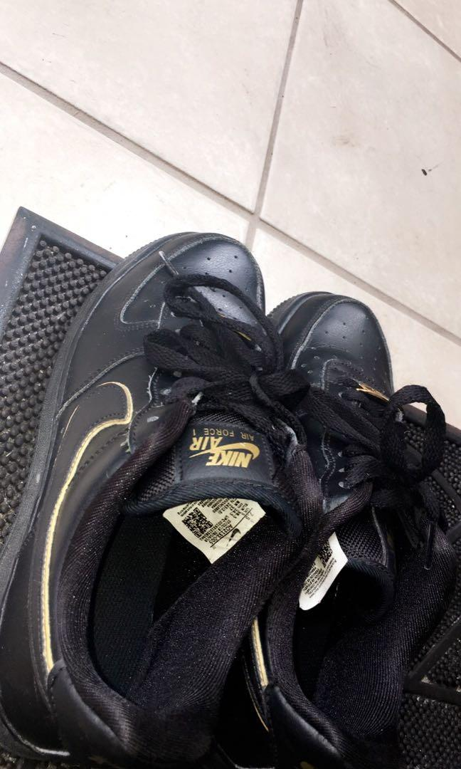 Black and Gold Air Force 1s
