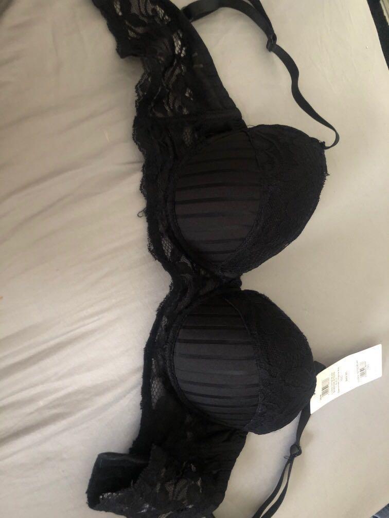 Black shadow stripe bra 10C
